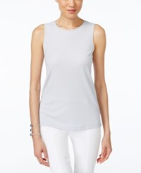 Alfani Prima High Neck Tank Top Only At Macy's New City Silver