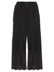 Zimmermann Essence Veil Silk Chiffon Trousers Black