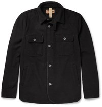 Nigel Cabourn Cpo Wool Blend Shirt Jacket Midnight Blue