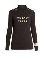 Bella Freud The Last Poets Wool Sweater Black