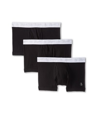 Original Penguin 100 Cotton 3 Pack Trunk Black Men's Underwear