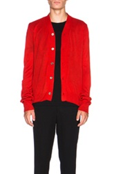 Comme Des Garcons Shirt Knit Cardigan In Red