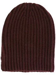 Danielapi Ribbed Beanie Pink Purple
