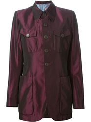 Jean Paul Gaultier Vintage Buttoned Jacket Pink And Purple
