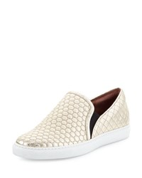 Tabitha Simmons Huntington Quilted Slip On Sneaker Champagne