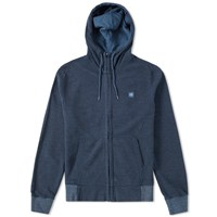 C.P. Company Patch Logo Zip Hoody Blue