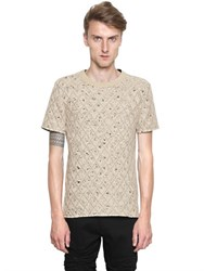 Maison Martin Margiela Tulle And Quilted Cotton Jersey T Shirt