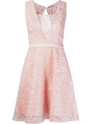 Martha Medeiros Flared Lace Dress Pink And Purple