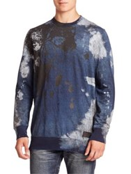 Prps Acid Wash Graphic Print Tee Navy