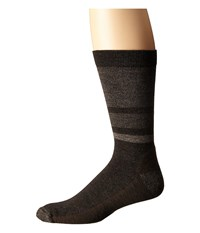 Smartwool Shed Stripe Chestnut Men's Crew Cut Socks Shoes Brown