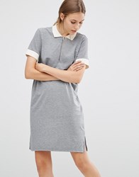 Just Female Athlete Polo Dress Gray