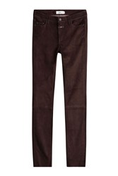 Closed Skinny Suede Pants Brown