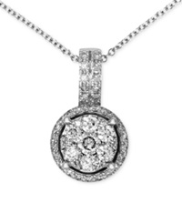 Effy Collection Bouquet By Effy Diamond Circle Cluster Pendant 3 8 Ct. T.W. In 14K White Gold