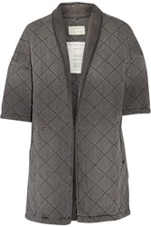 Current Elliott Quilted Cotton Jacket Gray