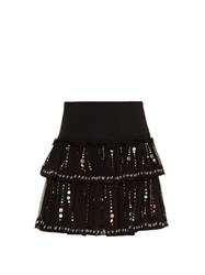 Isabel Marant Flore Galaxy Embroidered Skirt Black Multi