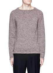 Eidos Beige Stripe Virgin Wool Sweater Brown