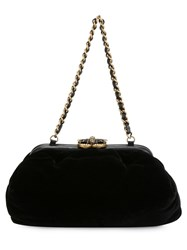 Chanel Vintage Soft Velvet Clutch Black