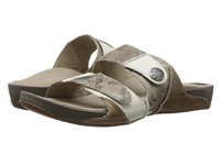 Aetrex Rebecca Adjustable Strap Taupe Women's Shoes