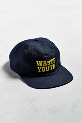 Obey Waste Youth 6 Panel Baseball Hat Navy