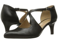 Naturalizer Okira Black Leather Women's 1 2 Inch Heel Shoes