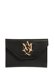 Alexander Mcqueen Mcq Logo Grained Leather Card Holder