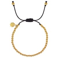 Dower And Hall 18Ct Yellow Gold Vermeil Sterling Silver Ball Misanga Bracelet Yellow Gold Black