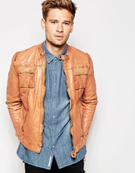 Pepe Jeans Prime Leather Jacket Brown