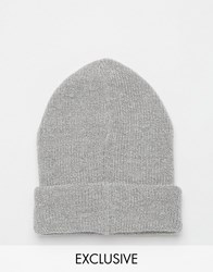 Reclaimed Vintage Oversized Beanie Grey