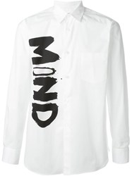 Comme Des Gara Ons Shirt Cut Out Mind Print Shirt White