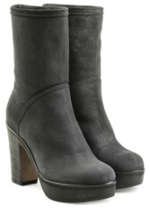 Fiorentini Baker And Suede Ankle Boots With Platform Grey