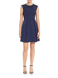 4.Collective Stella Beaded Collar Dress Navy
