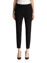 Lafayette 148 New York Crepe Track Pants Black