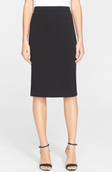 Theory 'Lijnek' Ponte Knit Pencil Skirt Black