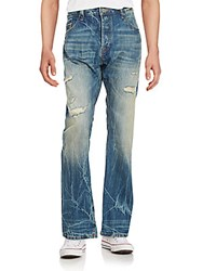 Cult Of Individuality Rebel Distressed Straight Leg Jeans Kyoto
