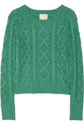 Band Of Outsiders Cable Knit Sweater Green