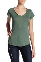 14Th And Union Short Sleeve V Neck Tee Petite Green