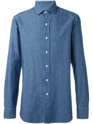 Salvatore Piccolo Classic Button Down Shirt Blue