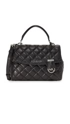 Michael Michael Kors Quilted Ava Small Satchel Black