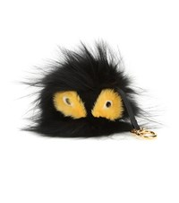 Fendi Bag Bugs Charm With Fox Mink And Rabbit Fur Black