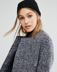 Pieces Knitted Beanie With Cashmere Black
