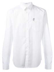 Carven Embroidered Clip Shirt White