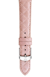 Michele 16Mm Quilted Watch Strap Pearl Pink