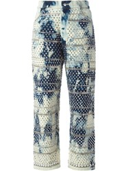 Ashish Studded Bleached Jeans Blue