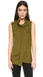 3.1 Phillip Lim Sleeveless Blouse Deep Moss