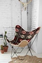 Urban Outfitters Kilim Butterfly Chair Cover Multi