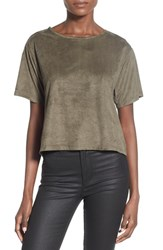 Junior Women's Sun And Shadow Oversize Faux Suede Tee