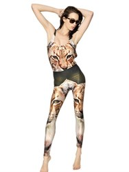 We Are Handsome The Wild Cat Printed Lycra Leggings