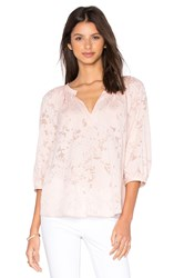 Rebecca Taylor Long Sleeve Victoria Clip Top Pink