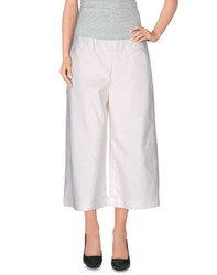 Rose' A Pois Trousers 3 4 Length Trousers Women White