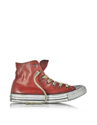 Converse All Star Red Retro Canvas And Leather Unisex Ltd Sneaker